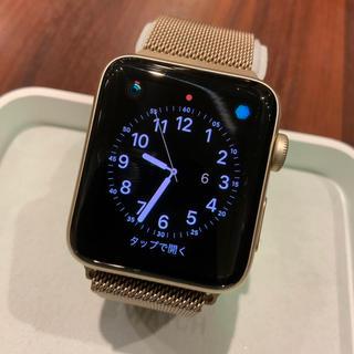 アップルウォッチ(Apple Watch)の(純正品) Apple Watch series2 42mm GOLD(腕時計(デジタル))