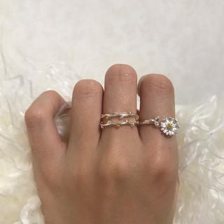 カスタネ(Kastane)のsilver flower ring(リング(指輪))