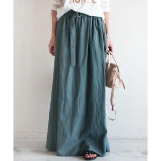 BEAUTY&YOUTH UNITED ARROWS - BEAUTY&YOUTH リネンキャンバスギャザーマキシスカート