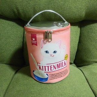 フェリシモ(FELISSIMO)のミルクの時間かニャ? 子猫もびっくりなポーチ バニティポーチ ミルク缶(ポーチ)