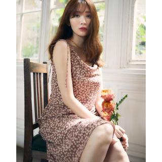 Cherry Pattern Layered Cami Dress