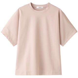 ★ ebure エブール コットン クルーネックTシャツ ★ピンク