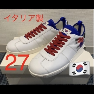 OFF-WHITE - 27cm❗️Pantofola d'Oro 韓国 カーフレザー スニーカー