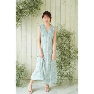 新品 Her lip to Lace Trimmed Floral Dress
