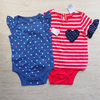 ベビーギャップ(babyGAP)の新品 未使用 babyGAP ロンパース Tシャツ 2点セット(ロンパース)