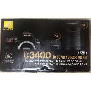 Nikon - Nikon D3400 一眼レフ セット Bluetooth ダブルズームキット