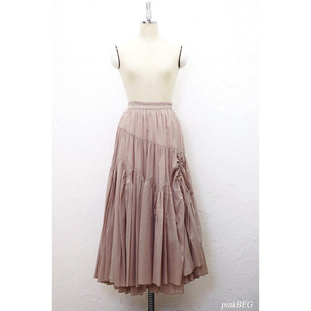 Her lip to Asymmetric Cotton-voile Skirt レディースのスカート(ロングスカート)の商品写真