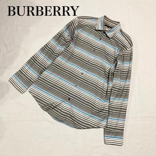 BURBERRY BLACK LABEL - バーバリー BURBERRY シャツ トップス ボーダー ブラックレーベル