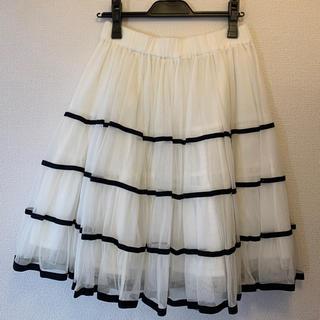 ジェーンマープル(JaneMarple)のJane Marple ジェーン マープル  チュールティアード スカート(ひざ丈スカート)
