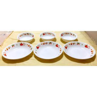 未使用 食器 コレール CORELLE 果物柄 プレ-ト皿と中鉢 6点セット(食器)