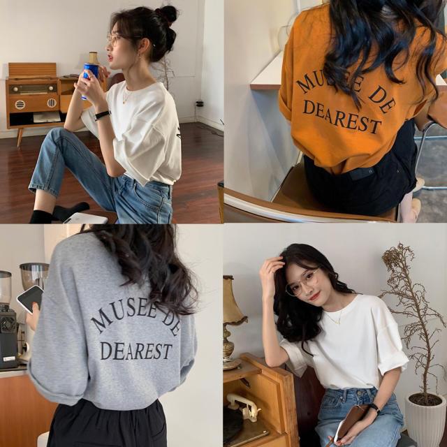 dholic(ディーホリック)の【予約販売】バックロゴもちTシャツ❤︎3color レディースのトップス(Tシャツ(半袖/袖なし))の商品写真