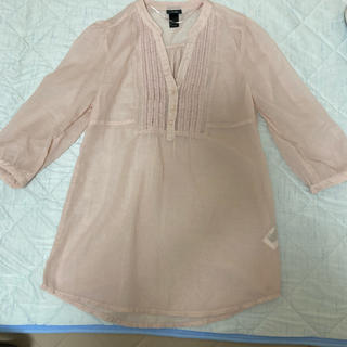 H&M - H&M 7分袖チュニック (薄ピンク)Mサイズ