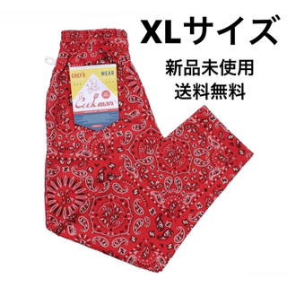 COOKMAN Chef Pants Paisley クックマン レッド