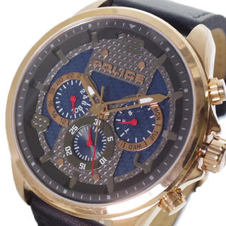 ポリス(POLICE)のポリス POLICE 腕時計 メンズPL15658JSR-03クォーツ ネイビー(腕時計(アナログ))