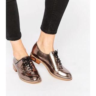 エイソス(asos)のAsos メタリックオックスフォード(ローファー/革靴)