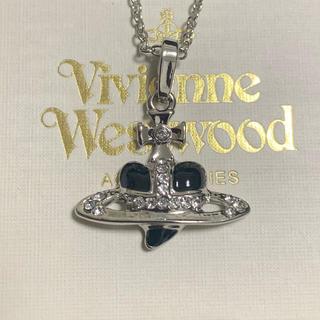Vivienne Westwood - Vivienne Westwood ディアマンテ ハート オーブ 黒 ネックレス