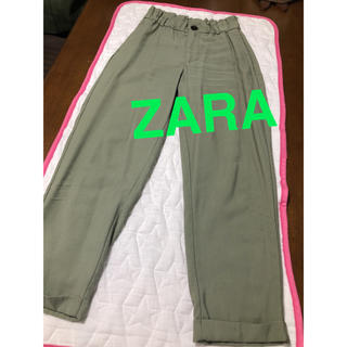 ZARA - ZARA zara ザラ ライトグリーン 若草色 カジュアルパンツ S