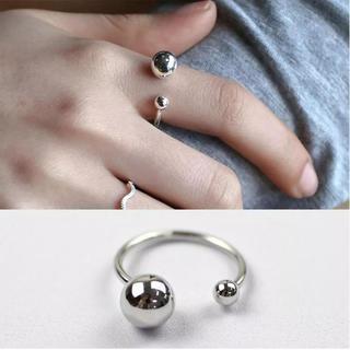 トゥデイフル(TODAYFUL)のボールリング 指輪 シルバーアクセサリー silver925(リング(指輪))