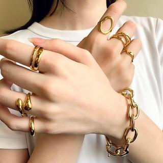 トゥデイフル(TODAYFUL)のうねうねリング ゴールド シルバー アクセサリー 指輪 925 vintage(リング(指輪))