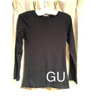 ジーユー(GU)のUネック無地ロンT(Tシャツ(長袖/七分))