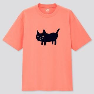 ユニクロ(UNIQLO)のユニクロ UT 米津玄師 米津 コラボ Tシャツ 猫 ピンク オレンジ(Tシャツ/カットソー(半袖/袖なし))