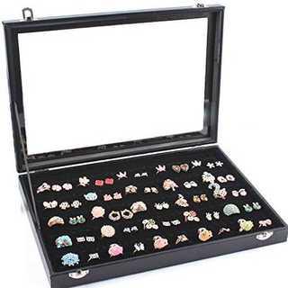 Yihiro リングケース 指輪 ベロア調 ピアスケース 100個 収納可 ディ