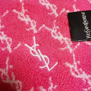 Saint Laurent - 新品 イヴサンローラン⑥ タオルハンカチ ピンク系 ハンドタオル ヨガ ジム