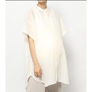 レプシィム(LEPSIM)のマタニティ/バンドカラーシャツチュニック(シャツ/ブラウス(半袖/袖なし))
