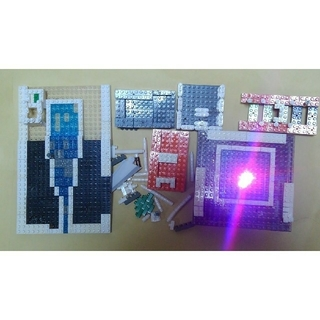 カワダ(Kawada)のnanoblock バラ&LEDプレート(模型/プラモデル)