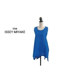イッセイミヤケ(ISSEY MIYAKE)のme ISSEY MIYAKE チュニック ノースリーブ ブルー(チュニック)
