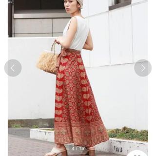 Ungrid - ペイズリープリントラップスカート