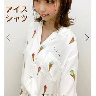 ジェラートピケ(gelato pique)のジェラートピケ アイス シャツ オフホワイト(シャツ/ブラウス(半袖/袖なし))