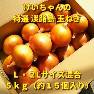 「送料無料」特選淡路島玉ねぎ 5kg(晩生・もみじ3号) 淡路島たまねぎ