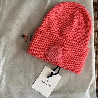 モンクレール(MONCLER)のモンクレール☆ビーニー☆ピンク☆新品タグ付き保存袋ありです‼︎(ニット帽/ビーニー)