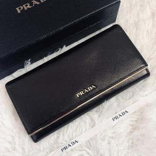 PRADA - 美品 PRADA プラダ 2つ折り 長財布