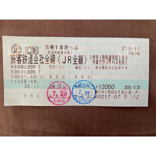 青春18きっぷ 3回 送料込み 即日発送または速達便にてお届け(鉄道乗車券)