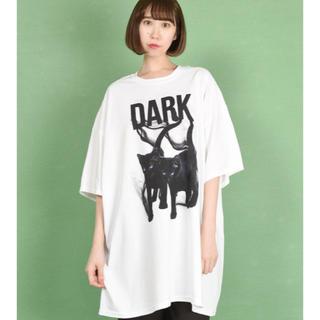 ミルクボーイ(MILKBOY)のMILKBOY DARK CAT BIG Tシャツ 2XLねこ ミルクボーイ(Tシャツ/カットソー(半袖/袖なし))