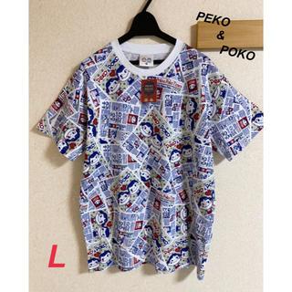 サンリオ(サンリオ)の新品 メンズ ポコちゃん ぺこちゃん 総柄 Tシャツ L(Tシャツ/カットソー(半袖/袖なし))