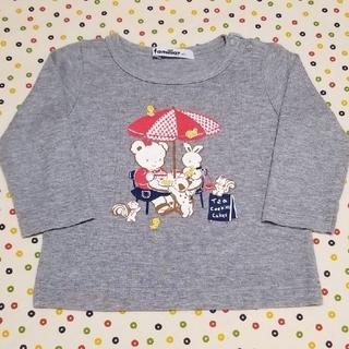 familiar - ファミリア ロング Tシャツ 80