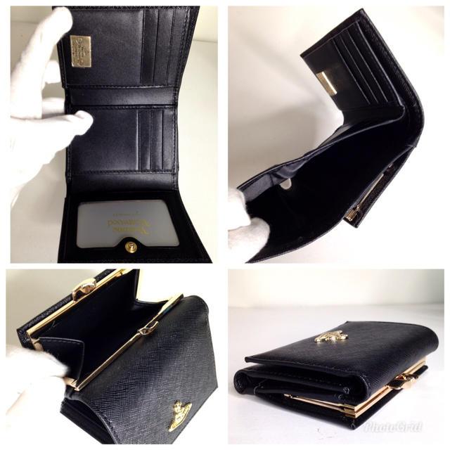 Vivienne Westwood(ヴィヴィアンウエストウッド)のヴィヴィアン ウェストウッド  三つ折り財布  ブラック 【新品】 レディースのファッション小物(財布)の商品写真