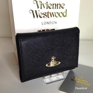 Vivienne Westwood - ヴィヴィアン ウェストウッド  三つ折り財布  ブラック 【新品】
