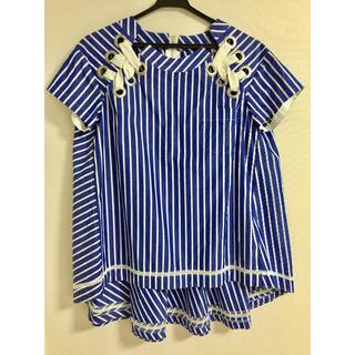 サカイ(sacai)のsacai サカイ ストライプシャツ サイズ1(シャツ/ブラウス(半袖/袖なし))