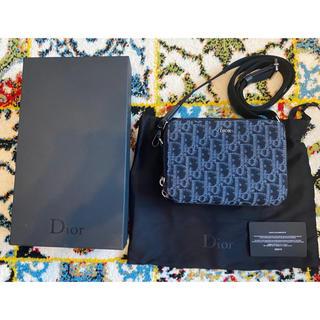 Dior - 【大人気】Dior オブリークショルダーバッグ ブルー ジャカード