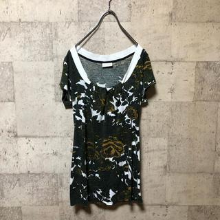 ドリスヴァンノッテン(DRIES VAN NOTEN)のDRIES VAN NOTEN 14SS 襟ギャザーフローラルカットソー(Tシャツ(半袖/袖なし))