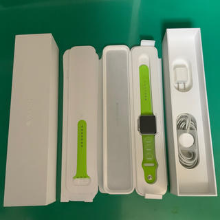 アップルウォッチ(Apple Watch)のApple Watch 42mm Sil Al Green Sports (スマートフォン本体)