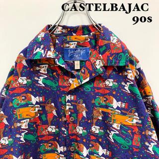 カステルバジャック(CASTELBAJAC)のカステルバジャック 90s 総柄 シャツ 星座柄 希少(シャツ)