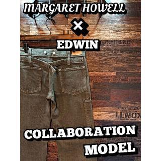 マーガレットハウエル(MARGARET HOWELL)のマーガレットハウエル×エドウィン♪デニムトラウザーズ♪ウエスト約72cm1683(デニム/ジーンズ)