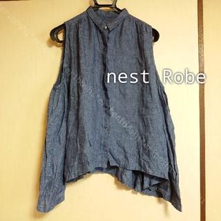 ネストローブ(nest Robe)のnest  Robeネストローブ◆ノースリーブリネンブラウス(シャツ/ブラウス(半袖/袖なし))