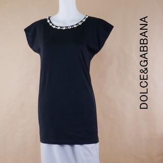 ドルチェアンドガッバーナ(DOLCE&GABBANA)のDOLCE&GABBANA ドルガバ 38 黒 コットン100 イタリア製シャツ(シャツ/ブラウス(半袖/袖なし))