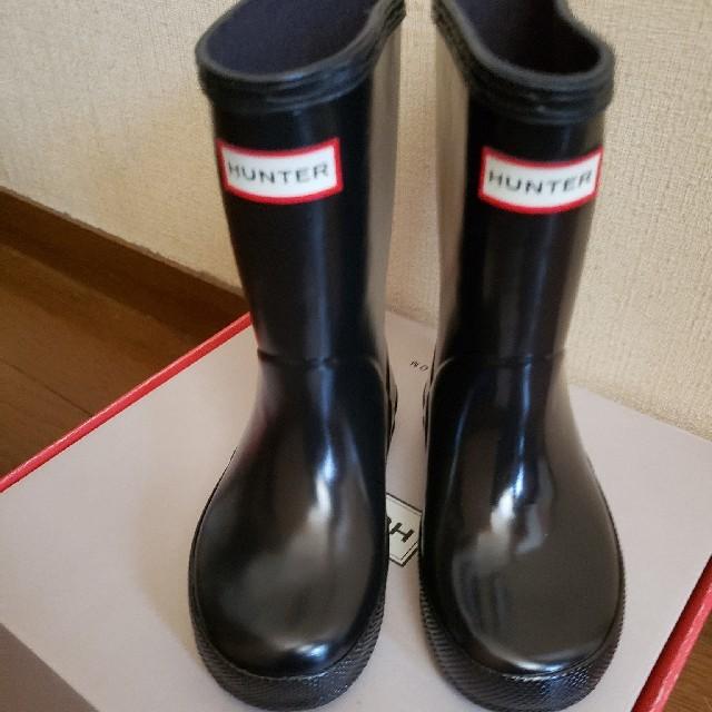 HUNTER(ハンター)の新品 ハンター レインブーツ  キッズ/ベビー/マタニティのキッズ靴/シューズ(15cm~)(長靴/レインシューズ)の商品写真